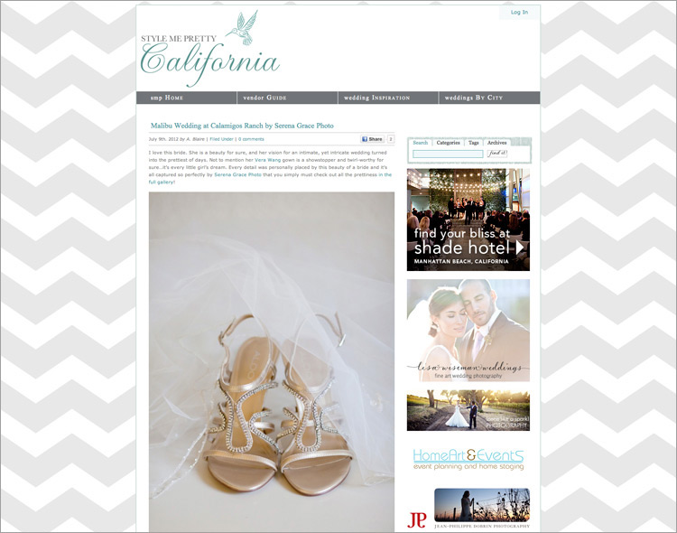 Featured On Style Me Pretty Serena Grace Photography